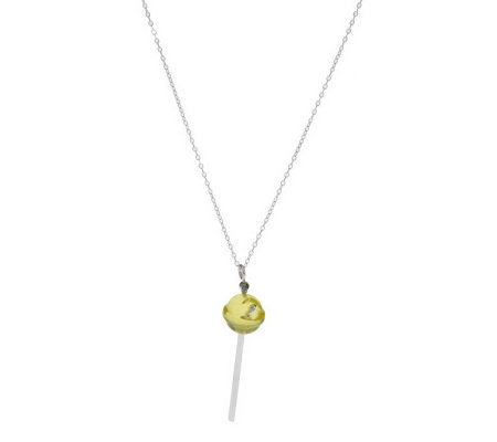"Simone I. Smith Sterling Lollipop Pendant with 18"" Chain"
