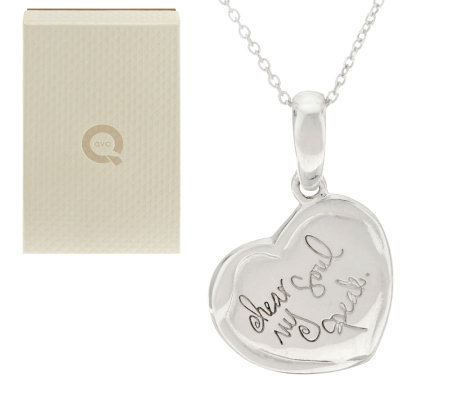 "Shawn's ""Hear My Soul Speak"" Sterling Inscribed Pendant w/Chain"