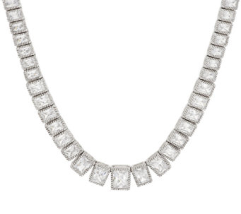 "Judith Ripka Sterling 18"" 19.30 ct Diamonique Tennis Necklace - J297044"