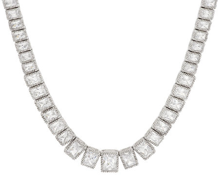 "Judith Ripka Sterling 18"" 19.30 ct Diamonique Tennis Necklace"