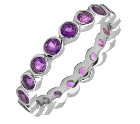 Simply Stacks Sterling Large Amethyst EternityStackable Ring