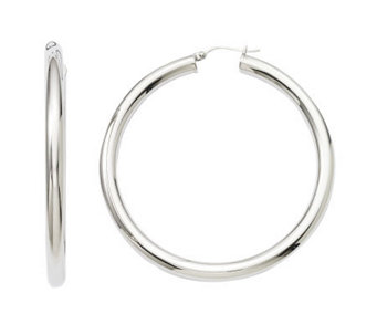 "Stainless Steel 2-3/8"" Polished Hoops - J308344"