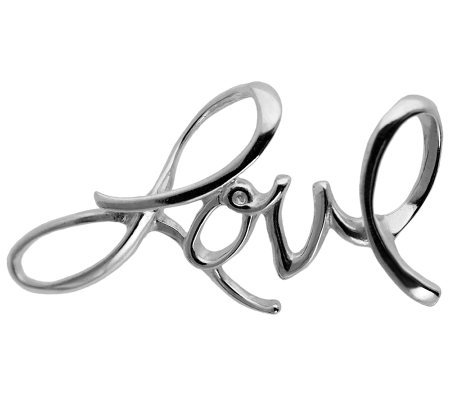 "Sterling ""Love"" Script Pendant"
