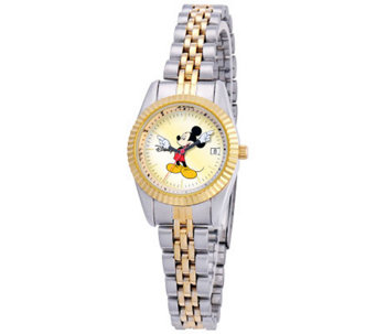 Disney Women's Mickey Two-Tone Watch - J315544