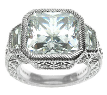Judith Ripka Sterling 10.65 cttw Diamonique Ring - J316844