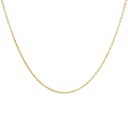 "Vicenza Gold 18"" Oval Cable Link Chain Necklace, 14K"