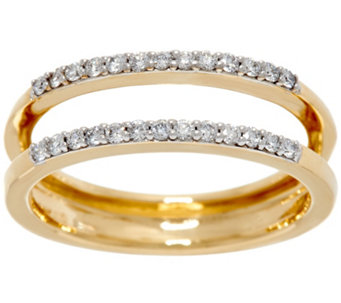 """As Is"" White Diamond Ring Guard, 14K Gold 1/4 cttw by Affinity - J332244"