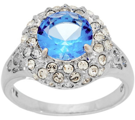 Grace Kelly Collection Simulated Sapphire & Diamond Ring