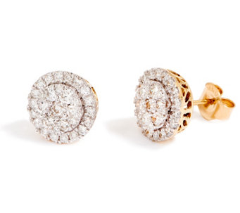 Round Cer Diamond Stud Earrings 14k 1 00 Cttw By Affinity J355044