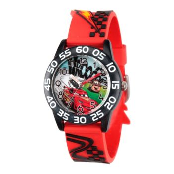 Disney Cars Boys' Red Plastic Watch