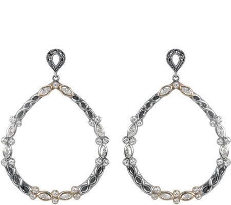 Suspicion Sterling Marcasite & Cubic Zirconia Earrings