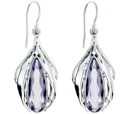 Hagit Sterling 7.50 cttw Amethyst Earrings