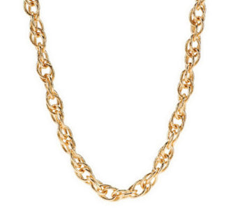 Textured Interlocking Chain Necklace by VT Luxe - J266545