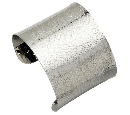 Stainless Steel Textured Cuff Bracelet