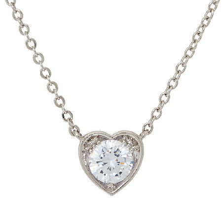 The Elizabeth Taylor 1.35cttw Simulated Diamond Heart Drop Necklace
