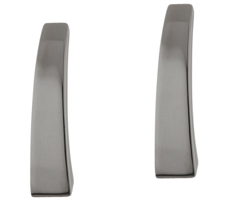 """As Is"" VicenzaSilver Sterl. Polished Graduated Stick Earrings"