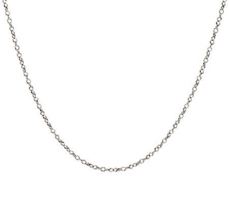 """As Is"" Vicenza Gold 24"" Polished Double Round Link Chain, 1.5g"