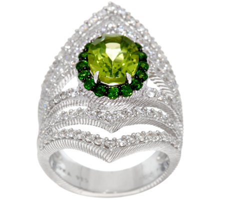 Judith Ripka Sterling Peridot 1.90 cttw Ring