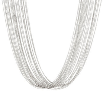 "Vicenza Silver Sterling 24"" Multi-Strand Necklace, 71.7g - J330745"