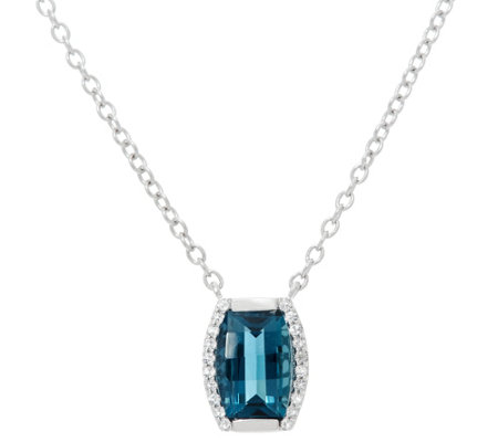 "Jane Taylor Barrel Cut Gemstone Sterling 18"" Necklace"