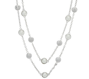 "Isaac Mizrahi Live! 32"" Double Strand Station Necklace - J331645"