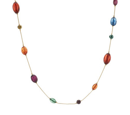 """As Is"" Linea by Louis Dell' Olio 61"" Colorful Necklace"