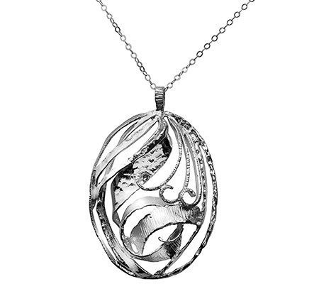 Or Paz Sterling Openwork Pendant w/ Chain