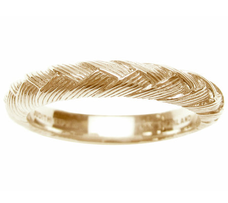 Judith Ripka Sterling & 14K Clad Braided BergeBand Ring