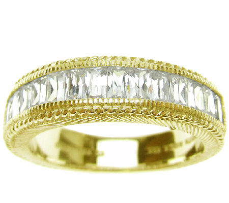 Judith Ripka Sterling 14K-Clad Diamonique Bague tte Ring