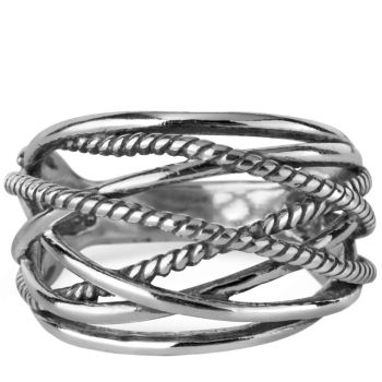 Carolyn Pollack Sterling Signature Rope Ring
