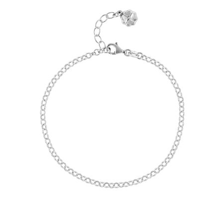 "Sterling Four-Leaf Clover 9"" Anklet"