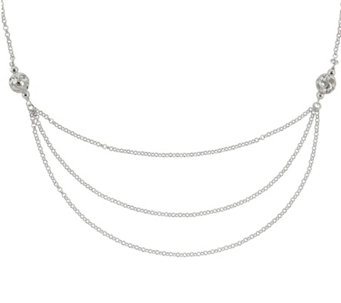 "Sterling Silver Layered-Look 18"" Chain by Silver Style - J342045"