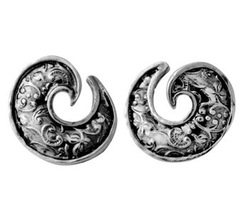 Sterling Silver Textured Swirl Design Earringsby Or Paz - J342845