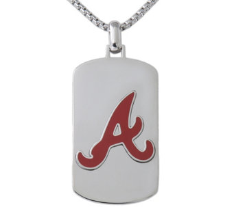 Men's MLB Athletics Stainless Steel Dog Tag with Chain - J343745
