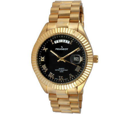 Peugeot Men's Goldtone Stainless Steel Watch
