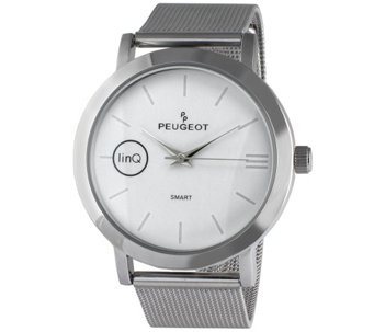 Peugeot linQ Smart Watch with Mesh Band - White - J344645