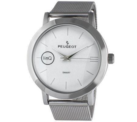Peugeot linQ Smart Watch with Mesh Band - White