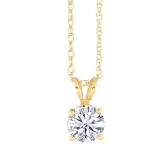 Round Solitaire Diamond Pendant, 14K Yellow,1/4ct by Affinity - J345045