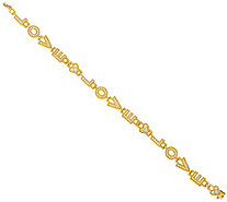 "Judith Ripka Sterling/14K Clad 8"" Diamonique Love Bracelet - J346945"