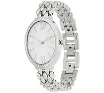 Diamonique Pave' Oval Watch - J349945