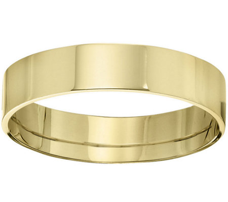 Men's 14K Yellow Gold 5mm Flat Comfort Fit Wedding Band