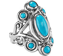 Carolyn Pollack Sterling Sleeping Beauty Turquoise Ring - J376345