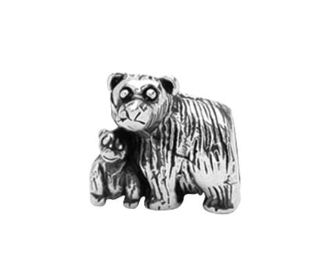 Prerogatives Sterling Mama and Baby Bear Bead