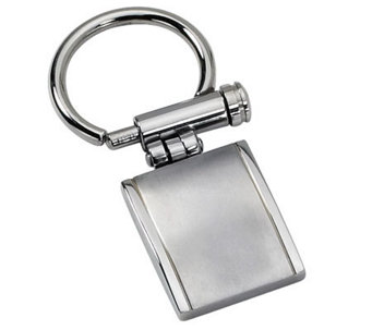 Forza Stainless Steel Brushed and Polished KeyChain - J109446
