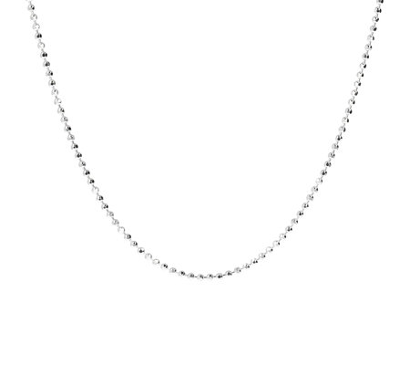 "UltraFine Silver 20"" Diamond Cut Bead Chain, 6.2g"