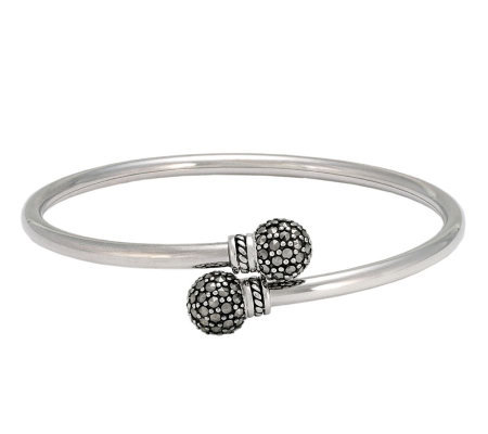 Suspicion Sterling Marcasite Flexible Bypass Bangle