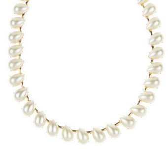 Janie Bryant MOD Simulated Pearl Tear Drop Necklace - J156146
