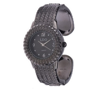 Linea by Louis Dell'Olio Textured Cuff Watch - J270046