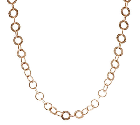 "Bronze 36"" Diamond Cut Round Rolo Necklace by Bronzo Italia"