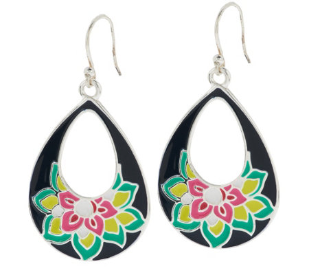 Vera Bradley Teardrop Dangle Earrings
